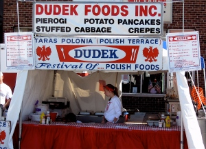 Polish food stands were everywhere.