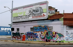 The building once featured various graffiti masterpieces